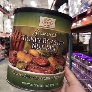 美加代購savanna綠罐混合蜂蜜果仁