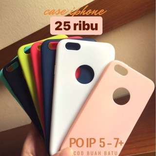 OPEN PO!!! soft case iphone 5-7