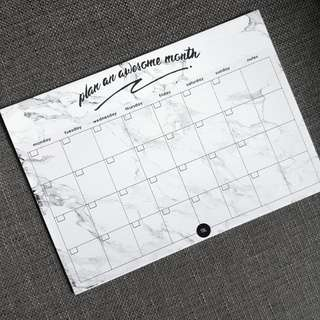 Monochrome Series: Monthly Planner