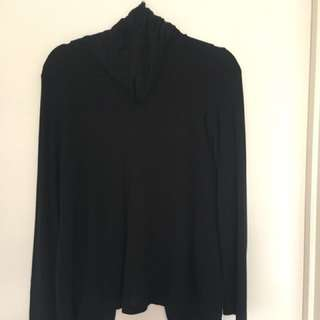 Bardot turtle neck with open back