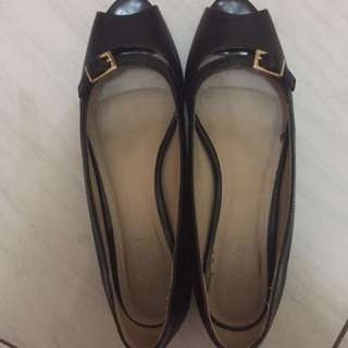 vicari sepatu kerja kitten heels mid shoes bukan zara