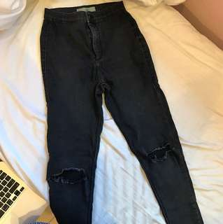 Pre-owned Topshop Ripped Jeans