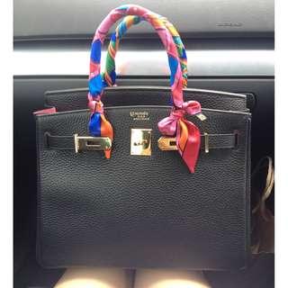 🚚 Designer Elegant Silk Handbag Scarf Twilly Accessories