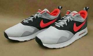 Sepatu Running Sneakers Original Nike Air Tavas Grey Orange Volt