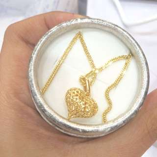 Gold necklace heart 18k sd