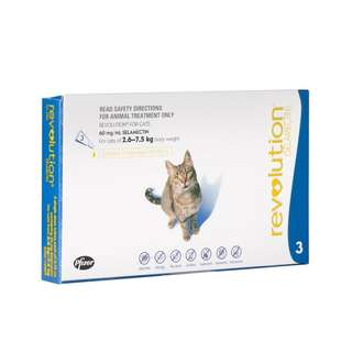 REVOLUTION FLEA & HEARTWORM PREVENTION FOR CATS