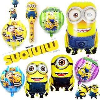 Minions Theme Foil Balloons