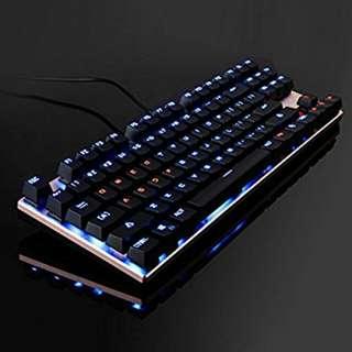 ONE-UP G300 87 Key Blue Switch Mechanical 2 Color Backlit Gaming Keyboard
