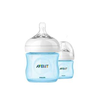 AVENT NATURAL PINK@BLUE 125ML(4OZ) TWIN PACK