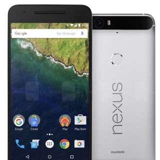 Nexus 6p Silver 128gb phone
