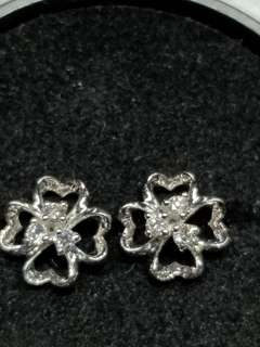 18K白金鑽石耳環 0.12ct