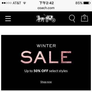 美國代購 🇺🇸 Coach winter 50% off