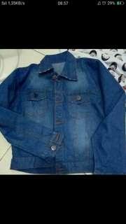 Jaket bluee jeans