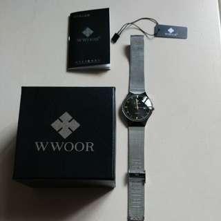 Wwoor s/s quartz watch w/date 全不銹龬日暦電子錶