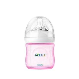 AVENT NATURAL PINK@BLUE 125ML(4OZ) SINGLE BOTTLE LOOSE NO BOX