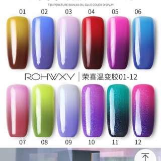 Colour changing nail polish
