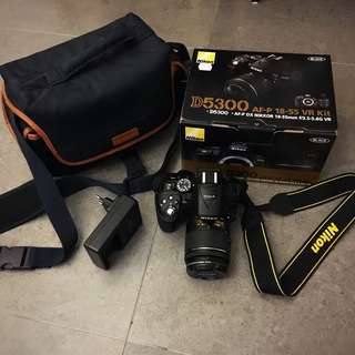 Nikon D5300 (Original with lens) 1.5years