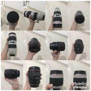 Canon dan lensa komplit