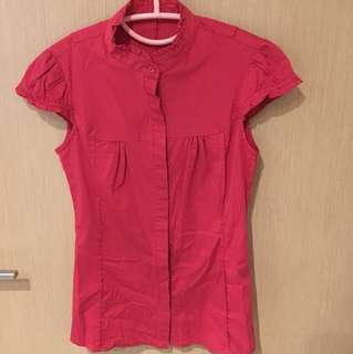 Slim cut Red Blouse