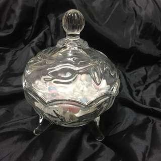 全新 水晶 玻璃消磁瓶 連200克 白水晶碎