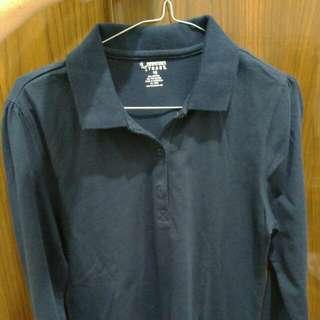 Kaos Lengan Panjang warna Navy