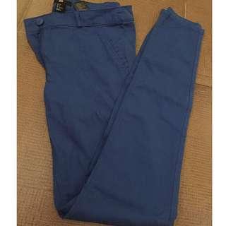 High waist h&m blue