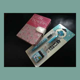 Bundle: Floral Notebook and Fountain Pen