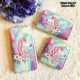 Unicorn mint terno wallet 3pcs set
