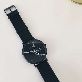 Deon Dane black marble watch