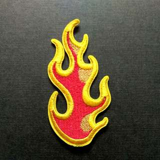 Fire Flame Blaze Iron On Patch