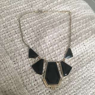 Gold & Black Statement Necklace