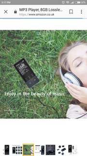 MP3 Player, 8GB Lossless Sound Entry Hi-Fi Bluetooth Music Players