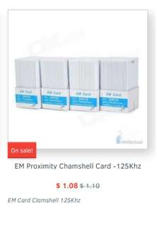 EM clamshell card,  universal number