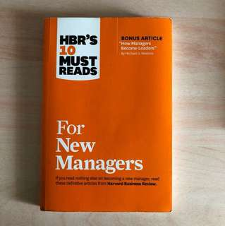 hbr's 10 must read for new managers