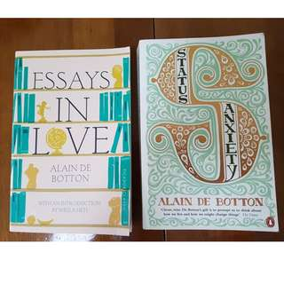 FREE SHIP Alan De Botton - Essay in Love & Status Anxiety - Phisolophy book