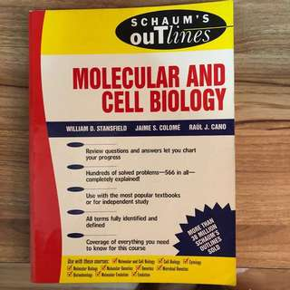 Schaum's Outline, Molecular and Cell Biology