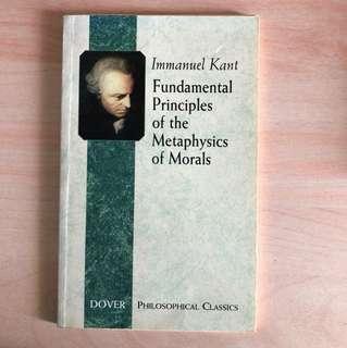 immanuel kant fundamental principles of the metaphysics of morals