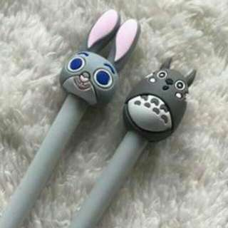 Totoro and Bunny Frixion Friction Erasable