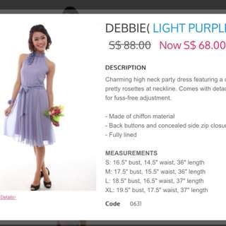 Bridesmaid dress- light purple