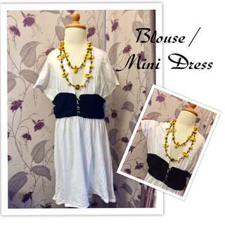 Blouse midi dress