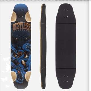 Restless FishBowl 39 Longboard Skateboard Custom Complete