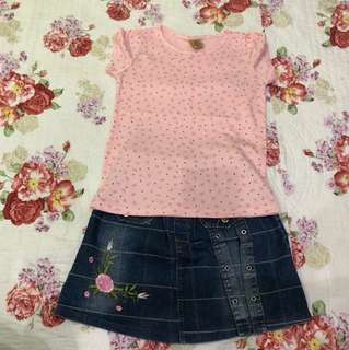 Pink Mini Ribbon + Skirt