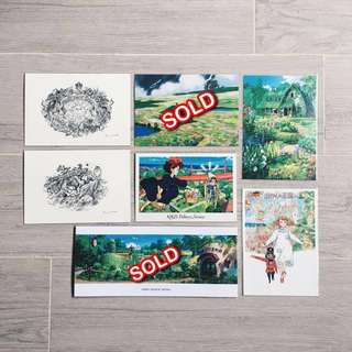 Studio Ghibli postcards