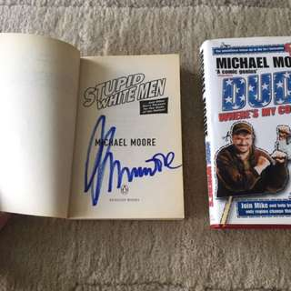 Signed Michael Moore Books