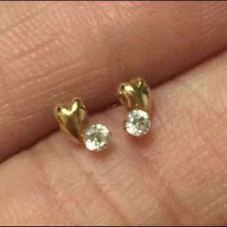日本製 全新純18K黃金 迷你耳釘   Made in Japan  100% real & new 18K(750) yellow gold Mini size stud earring