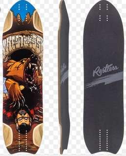 Restless NKD Longboard Skateboard Deck