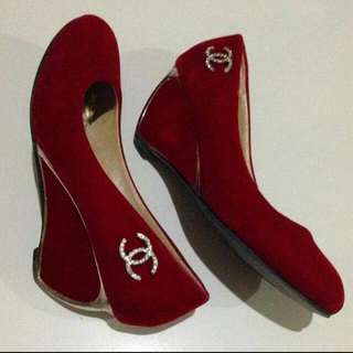 Red Shoes Size 37