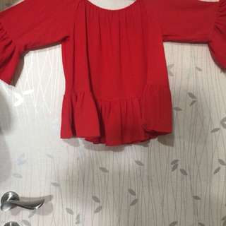 Baju summer off shoulder size S/M