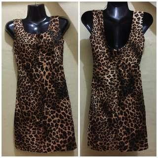 Leopard Print Dress for Petite Size