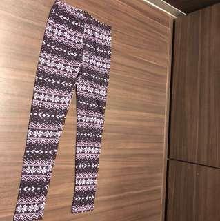 民族花紋冷legging